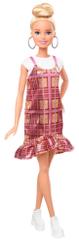 Mattel Barbie Modelka 142 - Tartanové šaty