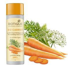 Biotique Bio pleťové mlieko s mrkvou s SPF 40+ UVA/UVB - 120 ml