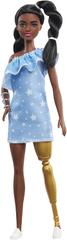 Mattel Barbie Modelka 146 - Džínsové šaty s hviezdičkami
