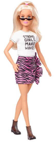 """Mattel Barbie Modelka 148 - Tričko """"Strong girls make waves"""""""