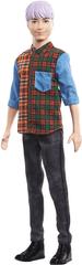 Mattel lalka Barbie Model Ken 154 - Fioletowe włosy