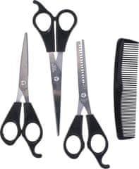 LIFETIME frizerski set, 4-delni, škarje + glavnik