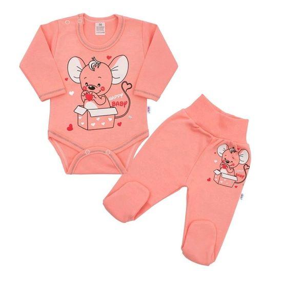 NEW BABY Dojčenská súpravička New Baby Mouse lossosová 68 (4-6m) Ružová