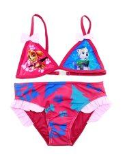 SETINO Dívčí dvoudílné plavky bikiny Tlapková patrola Skye - světle růžová
