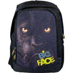 St.Majewski Školní batoh Big Face Panter, černý - zánovné