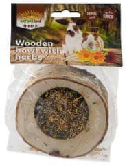 NATURE LAND Miska Nibble plnená bylinkami drevená 2x120 g