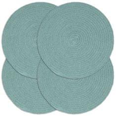 Prostírání 4 ks zelené 38 cm kulaté bavlna