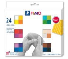 Staedtler FIMO® soft sada 24 barev 25 g BASIC