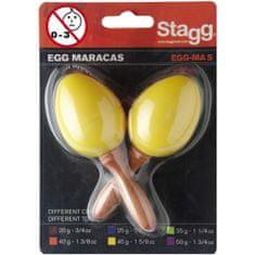 Stagg EGG-MA S / YW, pár vajíčok, krátka rukoväť, žlté
