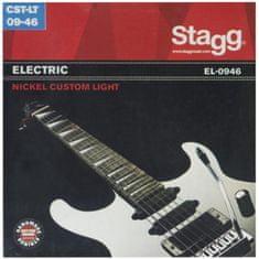 Stagg EL-0946, sada strún pre elektrickú gitaru, Custom light