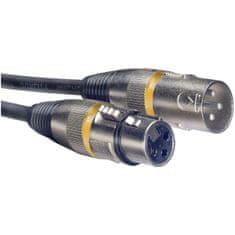 Stagg SMC10 YW, kabel mikrofonní XLR / XLR, 10m