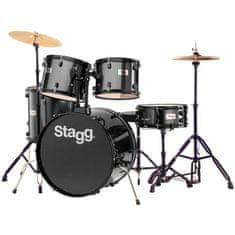 Stagg TIM122B BK kompletná bicie sada, čierna