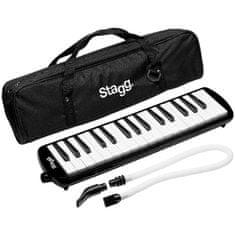 Stagg MELOSTA32 BK, klávesová harmonika, čierna