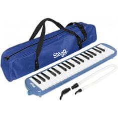 Stagg MELOSTA37 BL, klávesová harmonika, modrá