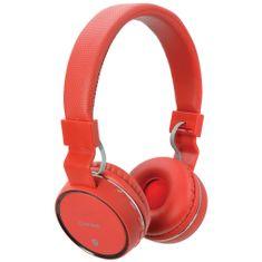 AV:link PBH-10 bezdrôtová Bluetooth SD slúchadlá, červená