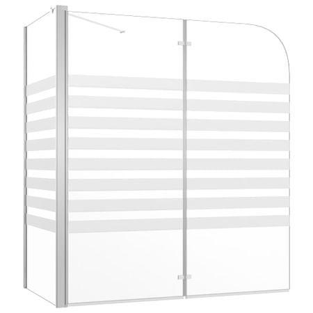 shumee átlátszó csíkos edzett üveg kádparaván 120 x 68 x 130 cm