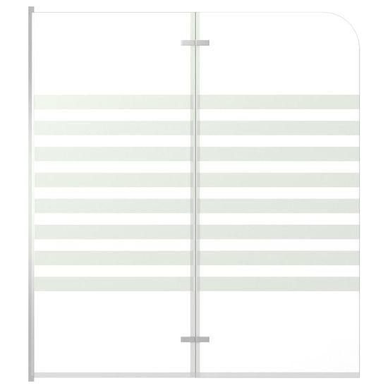 Sprchová zástena pruhovaná 120x140 cm tvrdené sklo