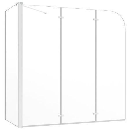 shumee átlátszó edzett üveg kádparaván 120 x 69 x 130 cm