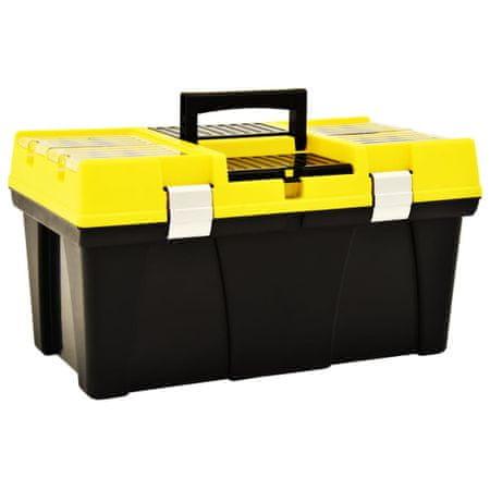 shumee sárga műanyag szerszámosláda 595 x 337 x 316 mm