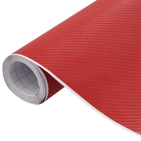 shumee Folija za avto mat 4D rdeča 500x152 cm