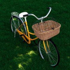 shumee természetes fűzfa elülső kerékpárkosár fedéllel 50 x 45 x 35 cm