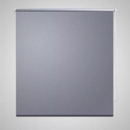 Roleta przeciwsłoneczna 80 x 230 cm szara