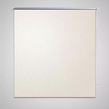 Roleta okienna zaciemniająca ciemna biel 160 x 230 cm