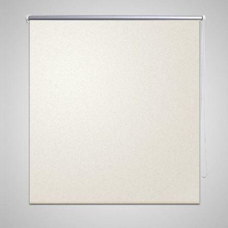 Roleta przeciwsłoneczna 100 x 230 cm kremowo biała