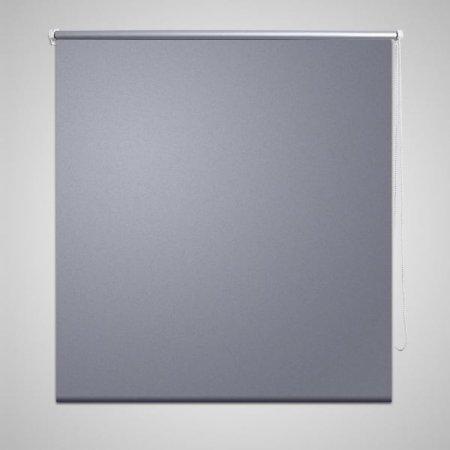 Roleta okienna zaciemniająca szara 160 x 230 cm