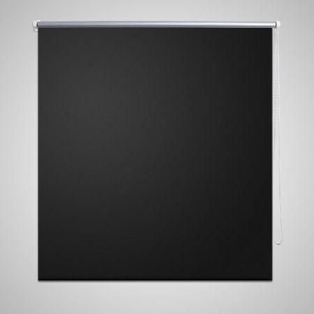 Roleta okienna zaciemniająca czarna 160 x 230 cm