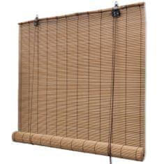 Brązowa bambusowa roleta 100 x 160 cm