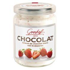 Grashoff Biely čokoládový krém s jahodami, 250g