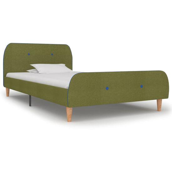 Rám postele zelený 90x200 cm látkový