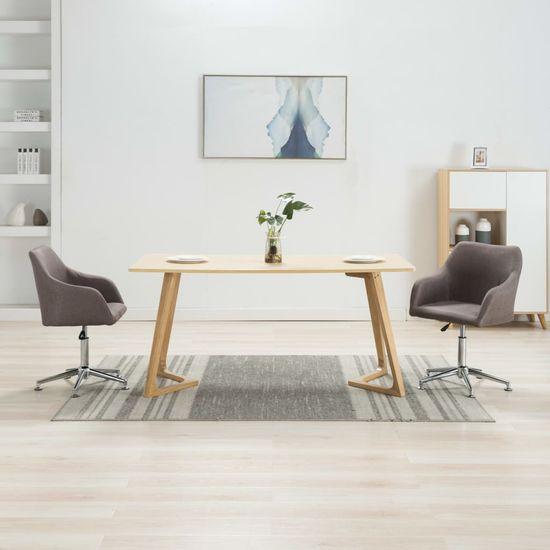 Otočné jedálenské stoličky 2 ks, sivohnedé, látka