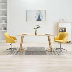 Otočné jedálenské stoličky 2 ks, žlté, látka