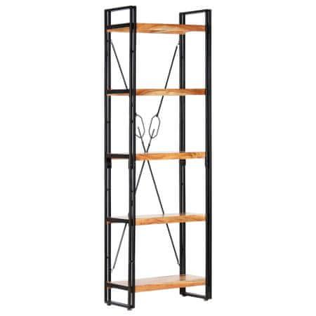 5-poziomowy regał na książki, 60x30x180 cm, drewno akacjowe