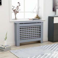shumee Kryt na radiátor, antracitový 112x19x81 cm, MDF