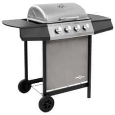 shumee fekete és ezüst gáz grillsütő 4 égővel