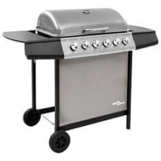 shumee fekete és ezüst gáz grillsütő 6 égővel