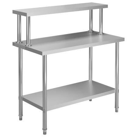 shumee Kuchenny stół roboczy z półką, 120x60x120 cm, stal nierdzewna