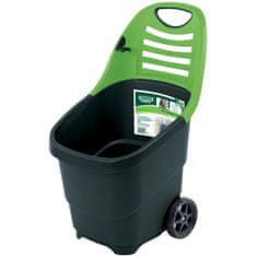 Draper Tools Expert Kosz ogrodowy na kółkach, 65 L, zielony, 78643