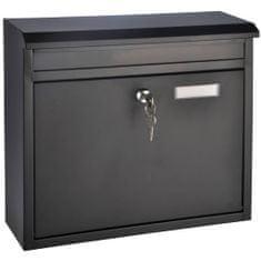 shumee HI Skrzynka na listy, czarna, 36 x 12 x 32 cm