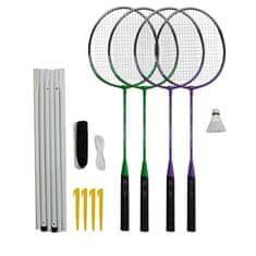Rulyt set za badminton, 4 reketa