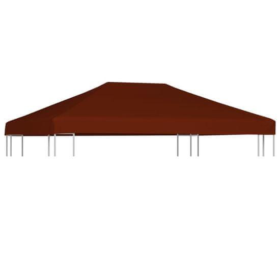 shumee Střecha na altán 310 g/m² 3 x 4 m cihlová
