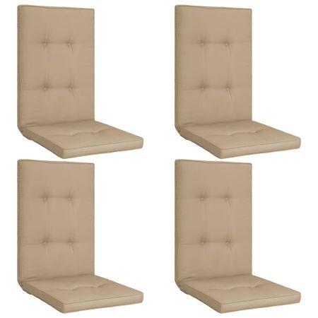 shumee 4 db bézs párna kerti székhez 120 x 50 x 5 cm