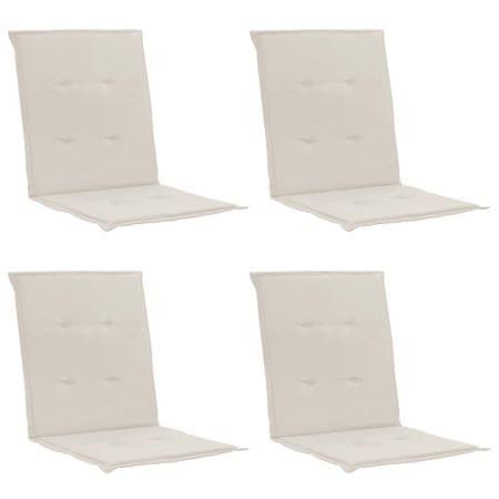 shumee 4 db krémszínű párna kerti székhez 100 x 50 x 3 cm