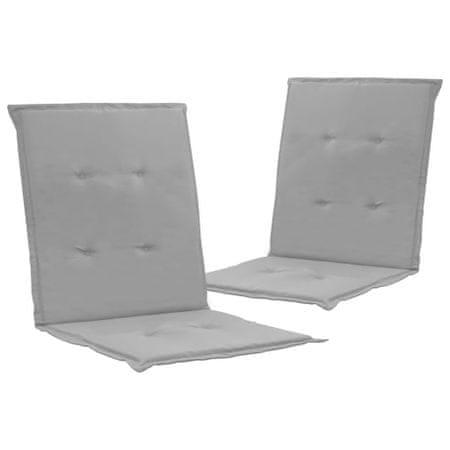 shumee 2 db szürke párna kerti székhez 100 x 50 x 3 cm