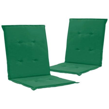 shumee 2 db zöld párna kerti székhez 100 x 50 x 3 cm