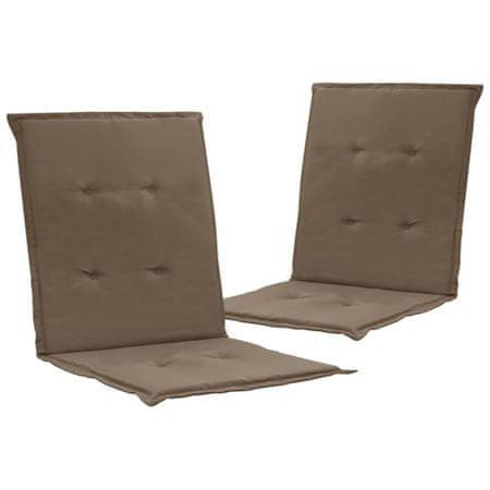 shumee 2 db tópszínű párna kerti székhez 100 x 50 x 3 cm