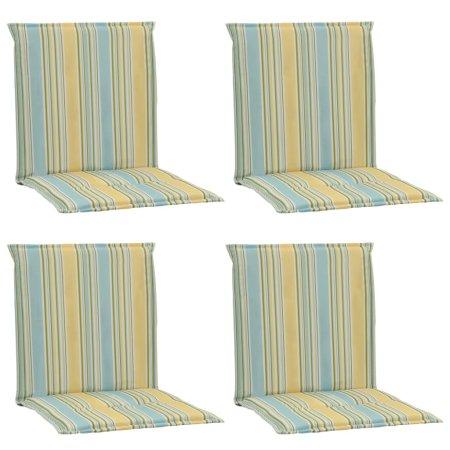 shumee Blazine za vrtne stole 4 kosi večbarvne 100x50x3 cm